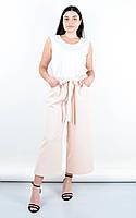 Модные летние брюки батал Клара пудрового цвета, фото 1