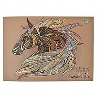 """Альбом для малюв 40арк склейка бел + фол зол """"Ethnic horse"""" YES крафт (6)"""