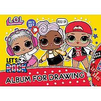Альбом для малювання 30арк LOL -1 на спіралі мат.ВДЛ + гліттер, Yes