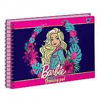Альбом для малювання 20арк спіраль BARBIE фольга золото+софт-тач+УФ-виб. Yes (3)