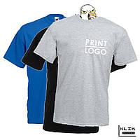 Печать на футболке мужской Стандарт (принт размером А5)