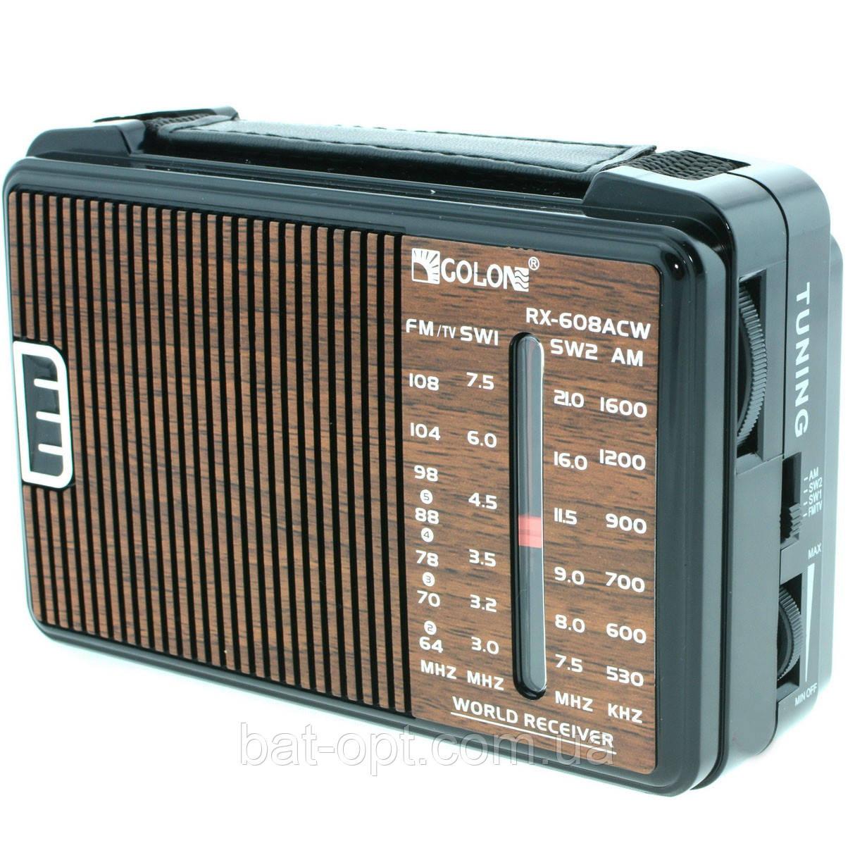 Радиоприемник GOLON RX-608ACW (FM/AM/SW1/SW2) 16см