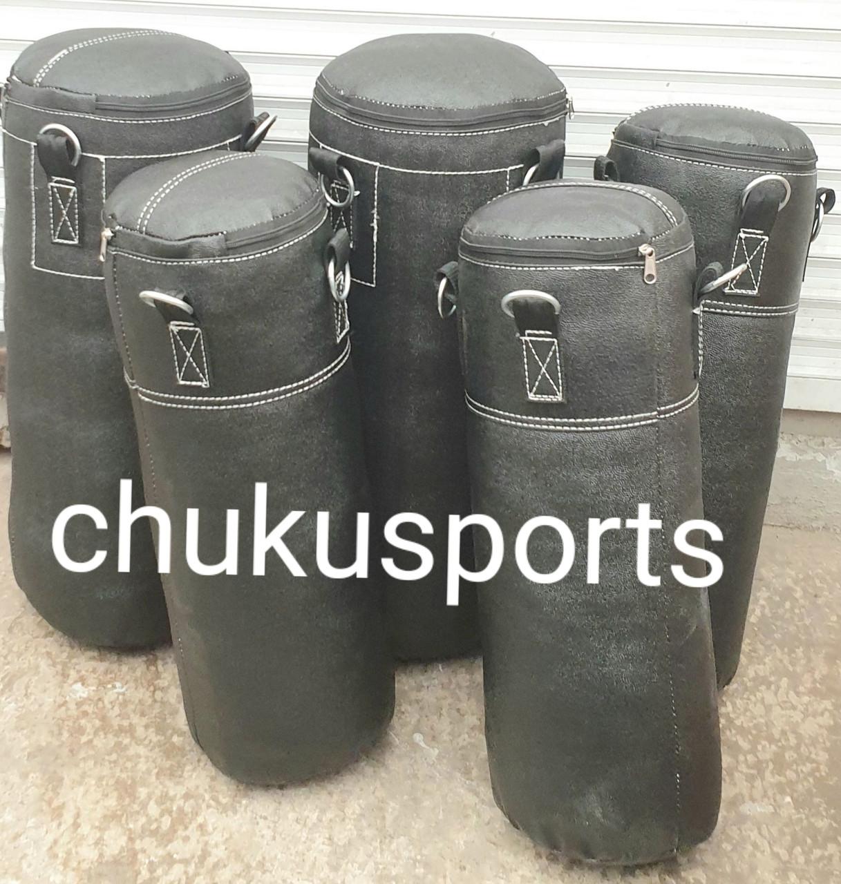 Боксерська груша кирза, висота: 700 мм, вага: 7-10 кг, в комплекті з ланцюгом