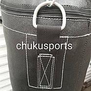 Боксерська груша кирза, висота: 700 мм, вага: 7-10 кг, в комплекті з ланцюгом, фото 4