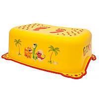 Підставка Maltex DINO 6364 нековзна yellow with red rubbers