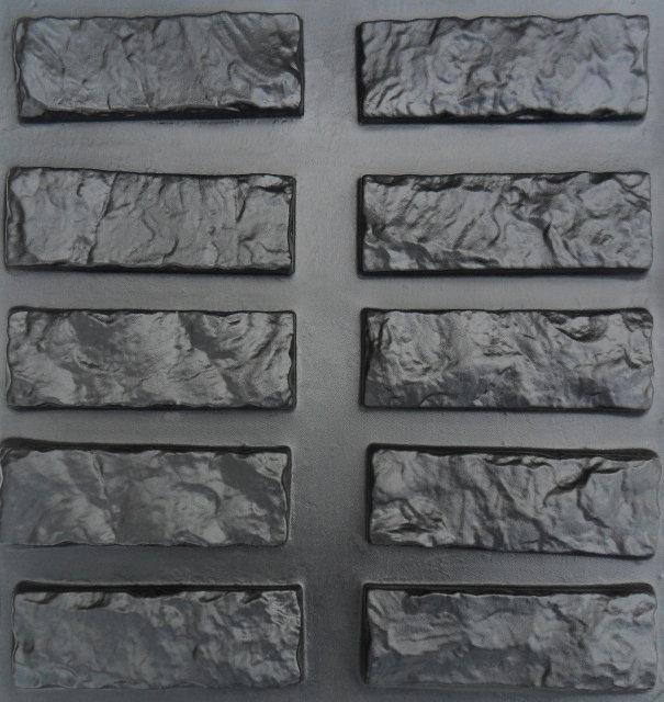 "Форма для штучного каменю Pixus 3D ""Колота цегла"" 45 x 45 x 1.5"