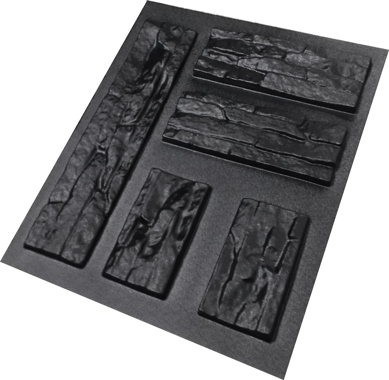 """Форма для штучного каменю Pixus 3D """"Схід"""" 48 x 48 x 2 см"""