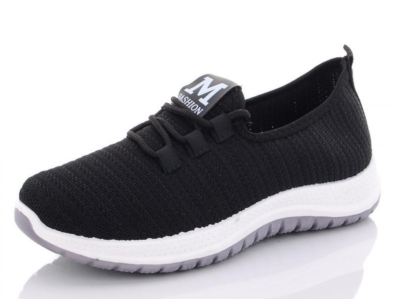 Летние женские черные кроссовки из сетки MFashion 39 р. - 25 см (1205147582)