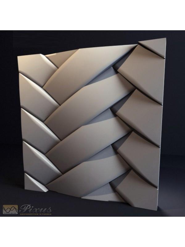 """Пластиковая форма для изготовления 3d панелей """"Косичка"""""""