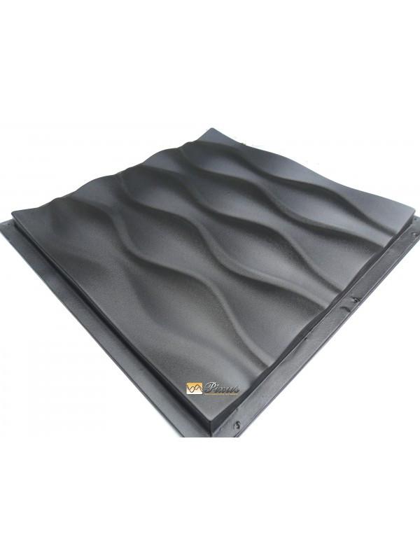 """Пластиковая форма для изготовления 3d панелей """"Дюна"""" 50*50"""