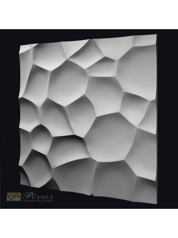 """Пластиковая форма для изготовления 3d панелей """"Shell"""" 50*50"""