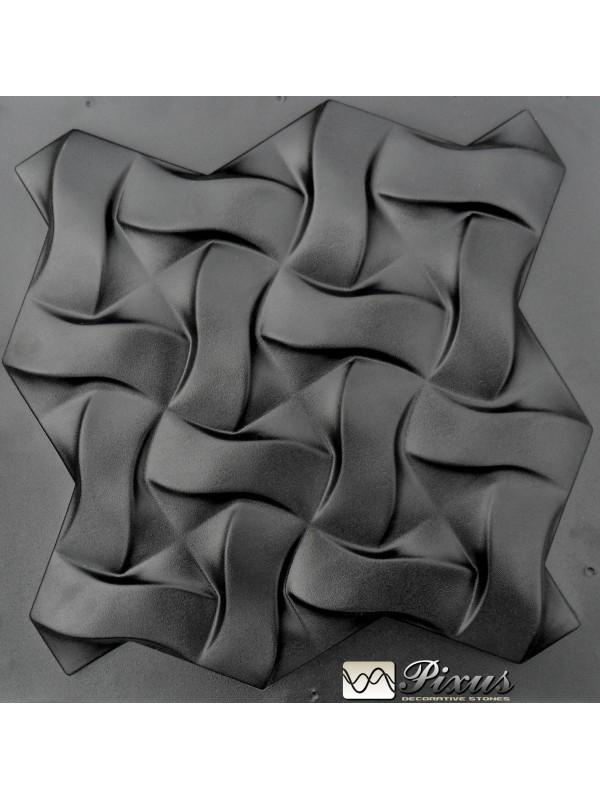 """Пластиковая форма для изготовления 3d панелей """"Плетенка"""" 50*50"""