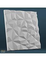 """Пластиковая форма для изготовления 3d панелей """"Кристаллы"""" 50*50, фото 1"""