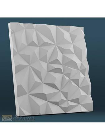 """Пластиковая форма для изготовления 3d панелей """"Кристаллы"""" 50*50"""