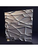 """Пластиковая форма для изготовления 3d панелей """"Рок"""" 50*50, фото 1"""
