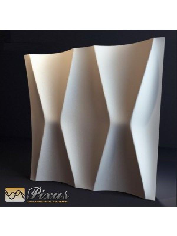 """Пластиковая форма для изготовления 3d панелей """"Талия"""" 50*50"""