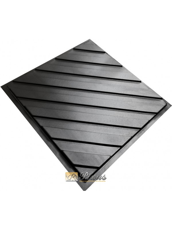 """Пластиковая форма для изготовления 3d панелей """"Lines"""" 50*50"""