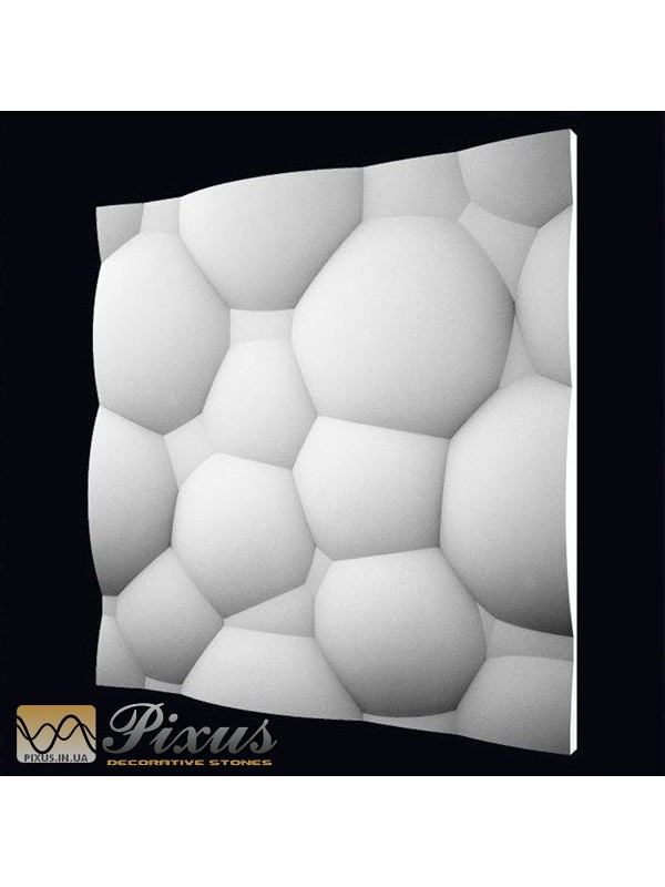 """Пластиковая форма для изготовления 3d панелей """"Пузыри"""" 50*50"""