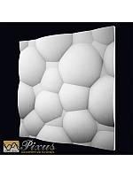 """Пластиковая форма для изготовления 3d панелей """"Пузыри"""" 50*50, фото 1"""