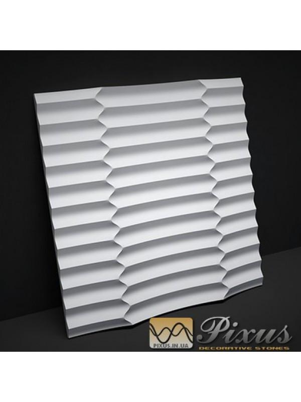 """Пластиковая форма для изготовления 3d панелей """"Meropa"""" 50*50 см"""