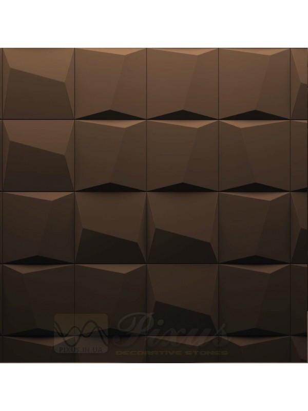 """Пластиковая форма для изготовления 3d панелей """"Квадраты"""" 20*20"""