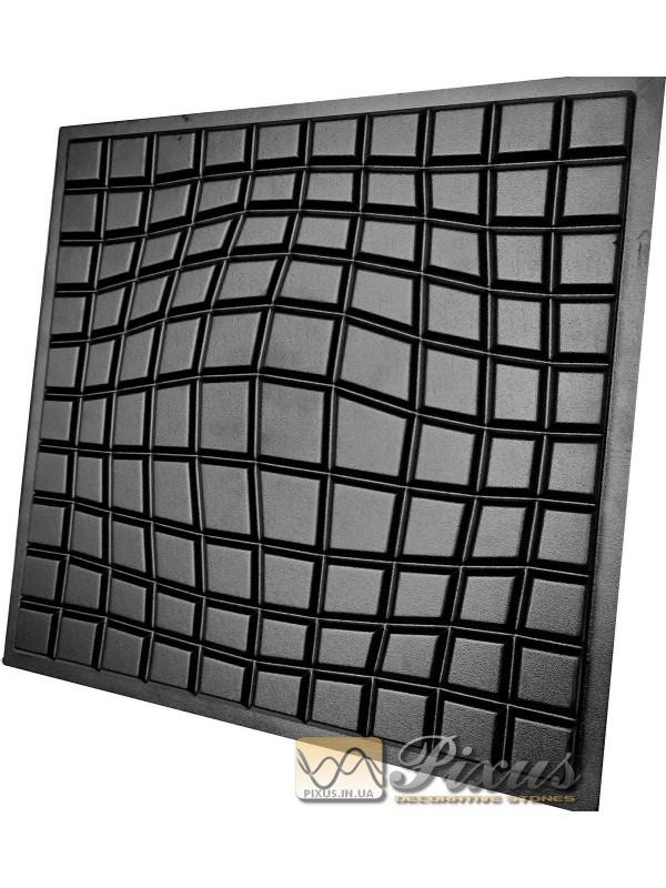 """Пластиковая форма для изготовления 3d панелей """"Ilusio"""" 50*50 см"""