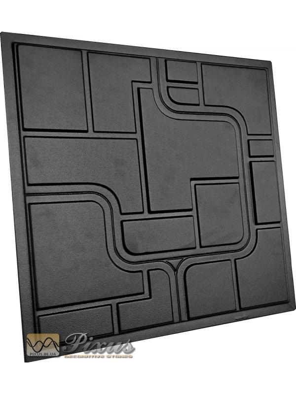 """Пластиковая форма для изготовления 3d панелей """"Space"""" 50*50 см"""
