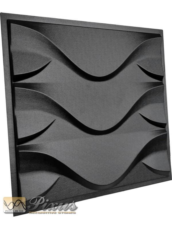 """Пластиковая форма для изготовления 3d панелей """"Рипл"""" 50*50 см"""