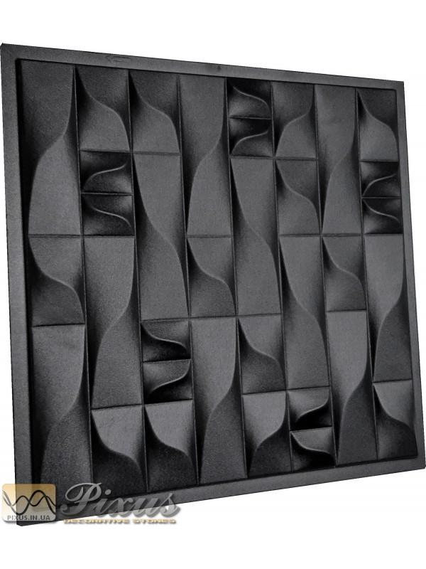 """Пластиковая форма для изготовления 3d панелей """"Вертикали"""" 50*50 см"""