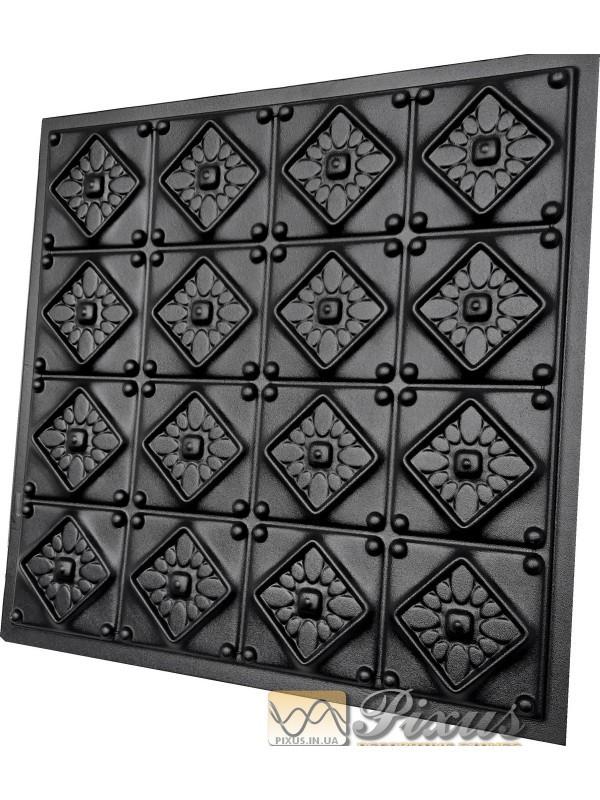 """Пластиковая форма для изготовления 3d панелей """"Elegance"""" 50*50 см"""