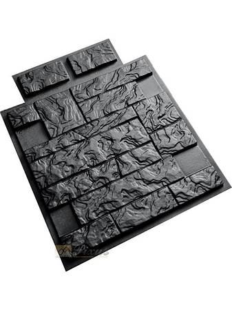 """Пластиковая форма для изготовления полифасада и термопанелей """"Фагот"""" 50*50"""