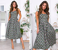 """Стильное платье мини """" Цветочки """" Dress Code, фото 1"""