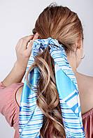 Платок FAMO Алиса голубой 59*59