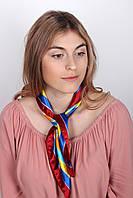 Платок FAMO Алиса сине-желтый 59*59