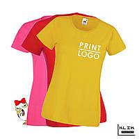 Печать на футболке женской Стандарт (принт размером А5)