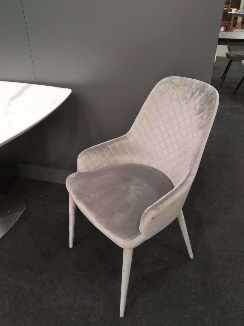 Обеденное кресло ELIZABETH (Элизабет) серый велюр от Concepto