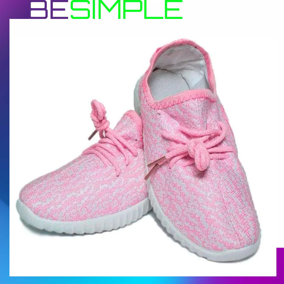 Кроссовки Adidas Yeezy Boost 350 спортивные (37-41 размер) Розовый (22,5-42 р.)