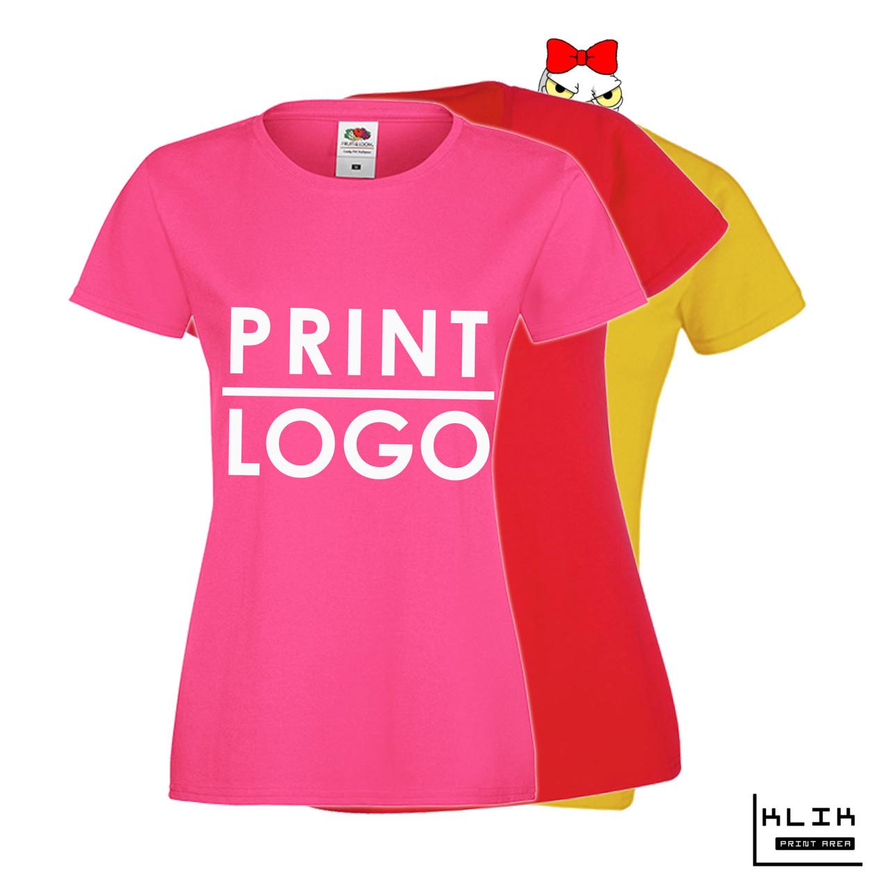 Печать на футболке женской Стандарт (принт размером А3)