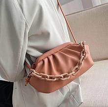 Клатч сумка женская боттега венета bottega veneta Стильная пельмень облако с цепью