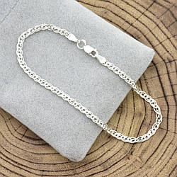 Серебряный браслет Нонна длина 20 см ширина 3 мм вес серебра 2.0 г