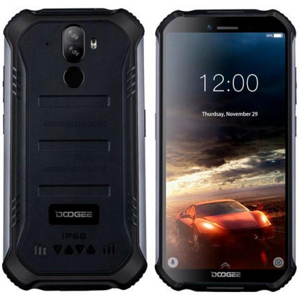 Смартфон защищенный с большим дисплеем и мощной хорошей батареей на 2 сим карты Doogee S40 black 3/32ГБ NFC