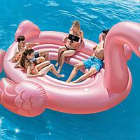 Intex 57297-flamingo, надувной плот для вечеринок Фламинго 384x292 см, фото 1