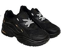 Черные осенние мужские кроссовки