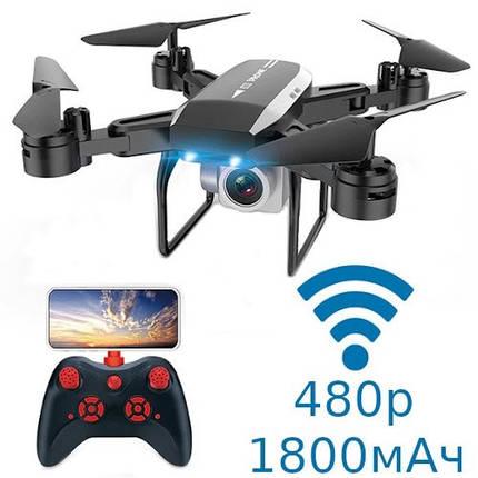 Квадрокоптер Дрон Wi-Fi с камерой 480p складной 1800мАч 30мин KY606D, фото 2