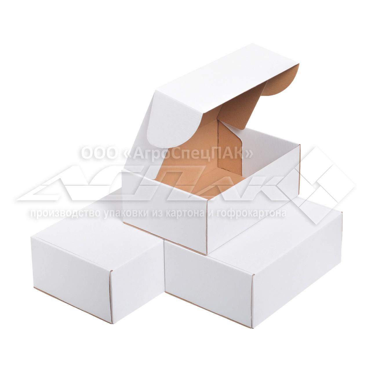 Картонная коробка 310х220х120 белая. Коробка формата А4.
