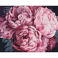 Картина для рисования по номерам на холсте Цветы Вдохновляющий аромат 40х50 Идейка КНО3015