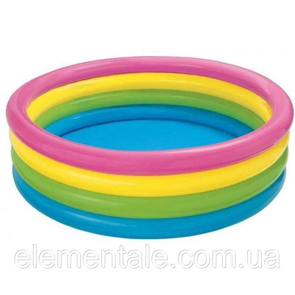 Бассейн детский круглый надувной Intex 56441 168 x 41 см Разноцветный