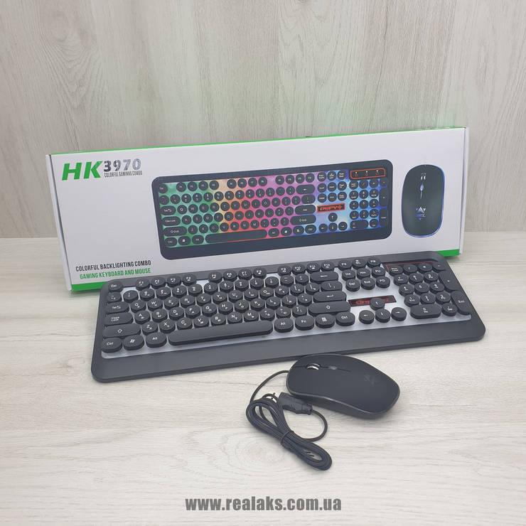 Клавіатура Led Gaming Keyboard + Мишка HK3970 (Black), фото 2