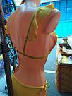 Купальник женский раздельный треугольник Желтый с Рюшами, фото 7
