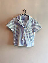 Женская льняная пижама для комфортного сна Light-Blue (sizeXL)